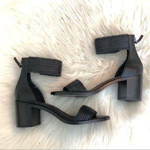 Nwot Frye Bianca woven back zipper sandal